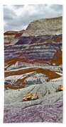 Blue Mesa Trail In Petrified Forest National Park-arizona Beach Towel