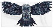 Blue Owl Beach Towel