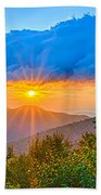Blue Ridge Parkway Late Summer Appalachian Mountains Sunset West Beach Towel