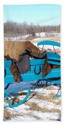 Blue Sleigh Beach Towel