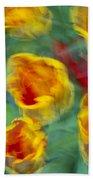 Blurred Tulips Beach Towel