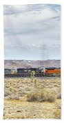 Bnsf 9112 Westbound From Boron Beach Towel