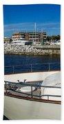 Boats In Port Beach Towel