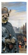 Border Terrier Art Canvas Print Beach Towel