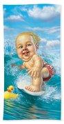 Born To Surf Beach Towel