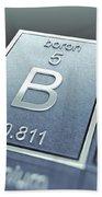 Boron Chemical Element Beach Towel