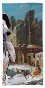 Borzoi - Russian Wolfhound Art Canvas Print Beach Towel