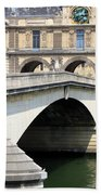 Bridge Over The Seine Beach Towel