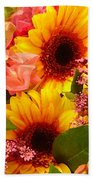Bright Spring Flowers Beach Towel