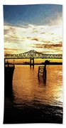 Bright Time On The River Beach Towel