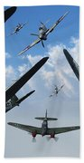 British Supermarine Spitfires Attacking Beach Towel