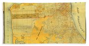 Britton And Reys Guide Map Of The City Of San Francisco. 1887. Beach Towel