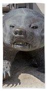 Badger Statue 4 At Uw Madison Beach Towel