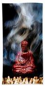 Buddha In Smoke Beach Towel