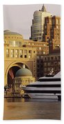 Buildings At The Waterfront, Boston Beach Towel