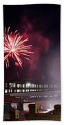 Bull Durham Fireworks Beach Towel