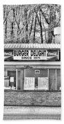 Burger Delight Beach Towel by Scott Pellegrin