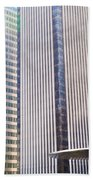 Business Skyscrapers Modern Architecture Beach Towel