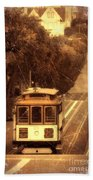 Cable Car In San Francisco Beach Towel