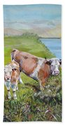 Cow And Calf Beach Towel