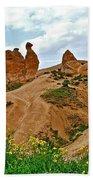 Camel In Camel Valley In Cappadocia-turkey Beach Towel