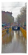 Canal Of Delft Beach Towel