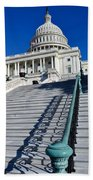 Capitol Hill Building In Washington Dc Beach Towel