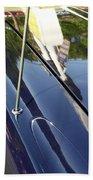 Car Reflection Beach Towel