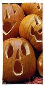 Carved Pumpkins Beach Towel