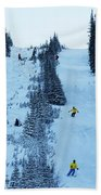 Cat Skiing At Fortress Mountain Beach Towel