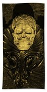 Celtic Skulls Symbolic Pathway To The Other World Beach Towel
