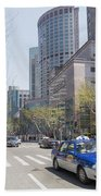 Central Shanghai In China Beach Towel