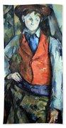 Cezanne's Boy In Red Waistcoat Beach Towel