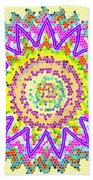 Chakra Energy  Mandala Ancient Healing Meditation Tool Stained Glass Pixels  Live Spinning Wheel  Beach Towel