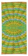 Chakra Mandala Green Wheel Meditation Unique Style Creative Beads Crystal Energy Healing Round Oval  Beach Towel