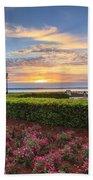 Charleston Sc Waterfront Pineapple Fountain Beach Towel