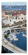Charleston Waterfront And Marina South Carolina Beach Towel