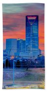 Charlotte Downtown   Beach Towel