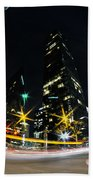 Charlotte Nc Usa - Nightlife Around Charlotte Beach Towel
