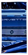 Chevrolet Corvette Engine Beach Towel