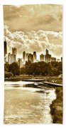 Chicago In Sepia Beach Towel