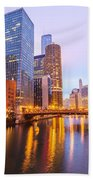 Chicago River View Beach Towel