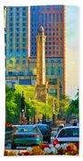 Chicago Water Tower Beacon Beach Towel