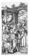 Childbirth, 1580 Beach Towel