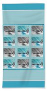 Chilly Winter Day Beach Towel