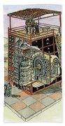 Chinese Astronomical Clocktower Built Beach Towel