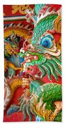 Chinese Temple Detail Beach Towel