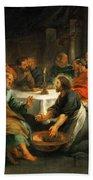 Christ Washing The Apostles' Feet Beach Towel