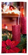 Christmas Candles Beach Towel