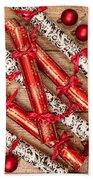 Christmas Crackers Beach Towel